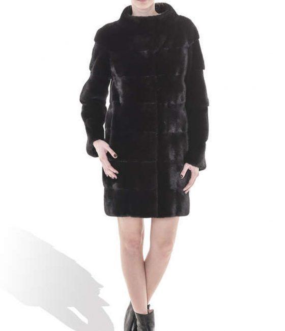 Black Mink Long Coat