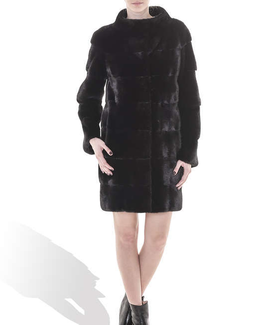 Black Mink Long Coat