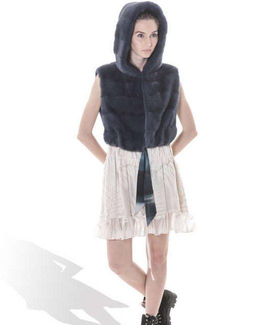 Blue Mink Short Vest