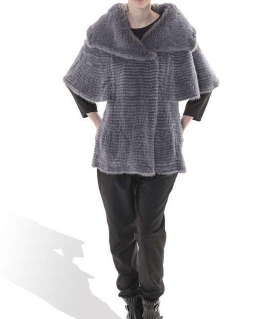 Grey Light Mink Coat