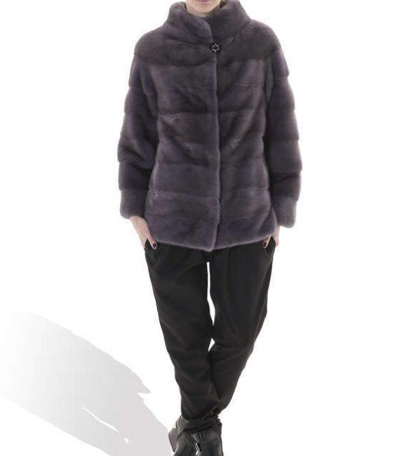 Dusty Purple Medium Mink Coat