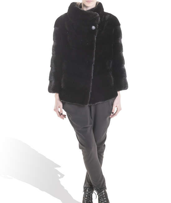 Black Medium Mink Coat