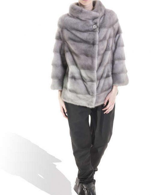 Grey Mink Long Coat