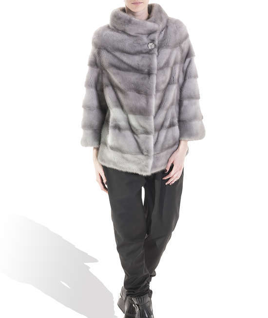 Grey Mink Long Coat