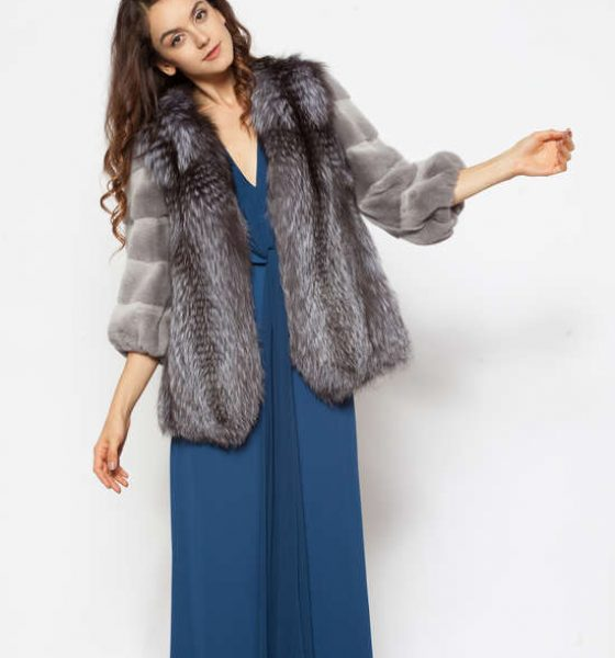 Natural fox and grey mink